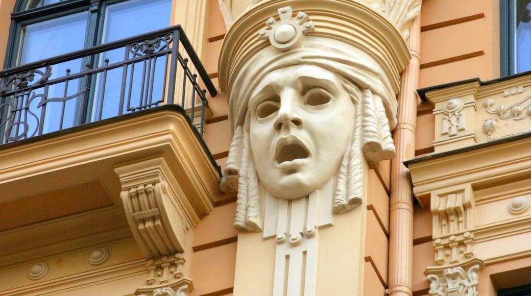 Riga mostrando architettura d\'epoca