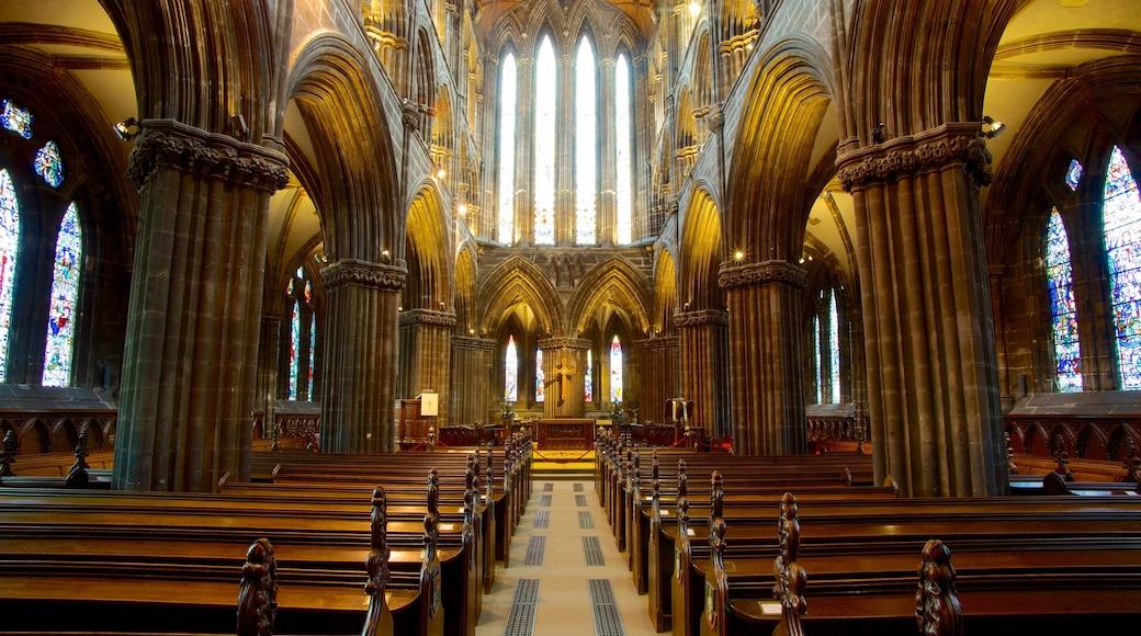 Kathedrale von Glasgow welches beinhaltet Innenansichten, historische Architektur und religiöse Aspekte
