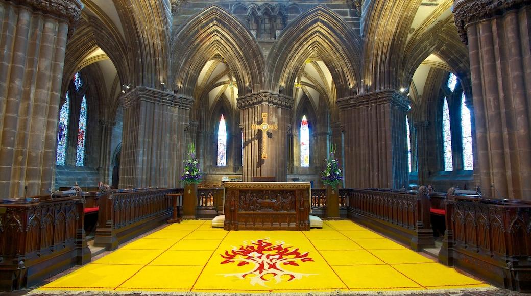 Kathedrale von Glasgow welches beinhaltet Kirche oder Kathedrale, Innenansichten und religiöse Elemente