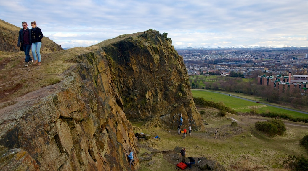 Arthur\'s Seat which includes mountains, hiking or walking and landscape views