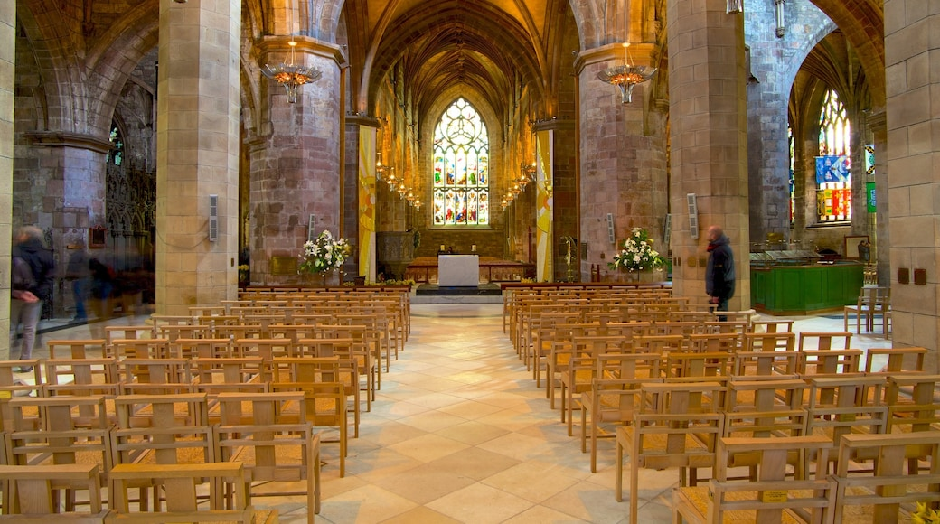 Edinburgh featuring a church or cathedral, interior views and religious aspects