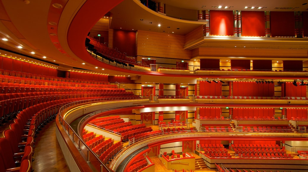 Symphony Hall showing theater scenes and interior views