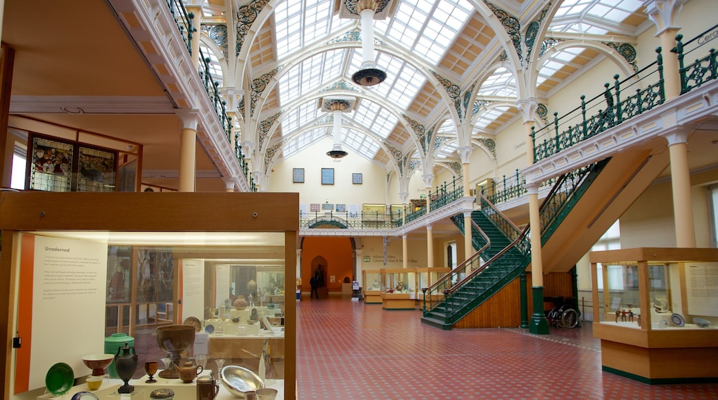 Birmingham Museum and Art Gallery which includes interior views and art