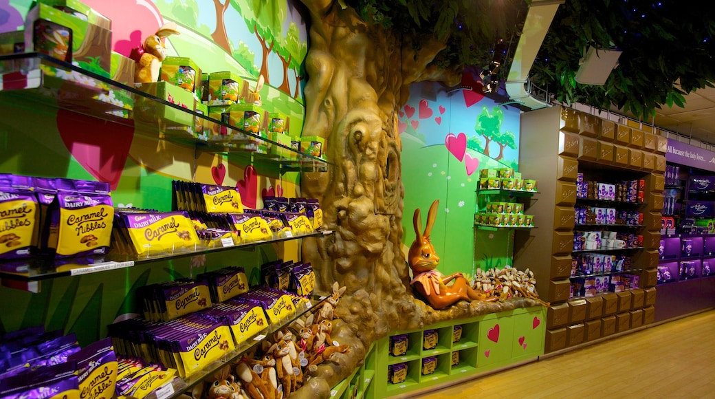 Cadbury World som viser innendørs og marked