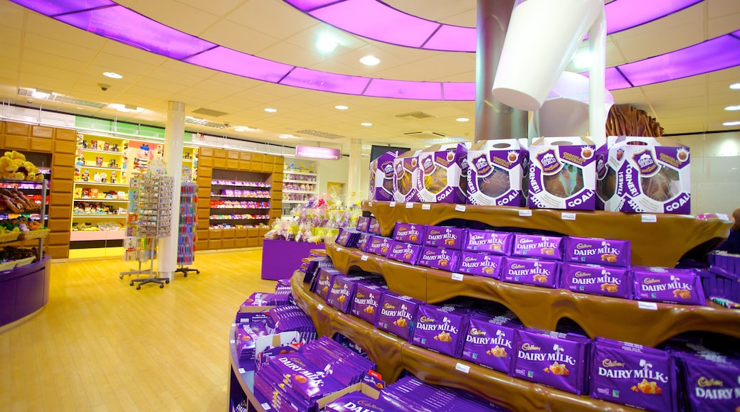 Cadbury World som inkluderer innendørs og shopping