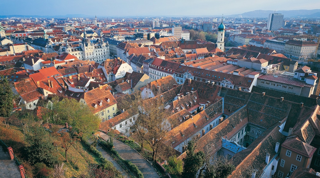 Graz which includes a city and heritage architecture