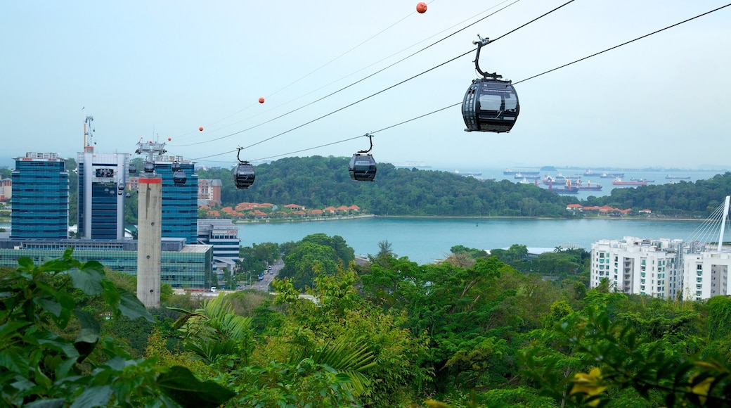 Sentosa Island showing views and a gondola
