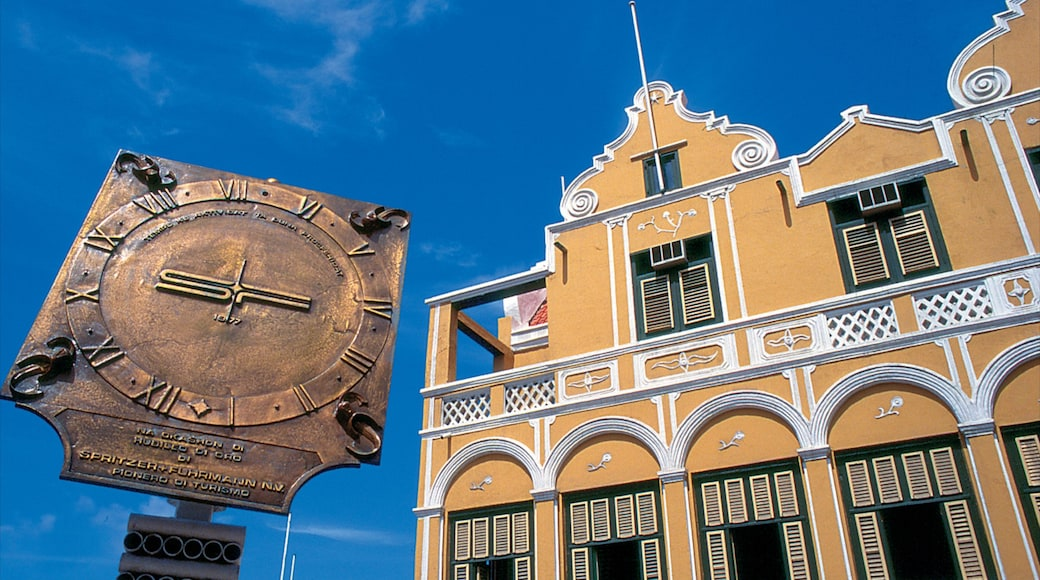 Willemstad which includes a city and heritage architecture