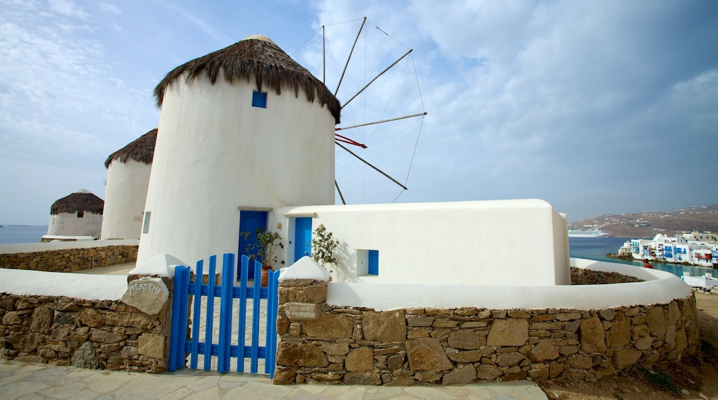 Windmills of Mykonos which includes heritage architecture and a windmill
