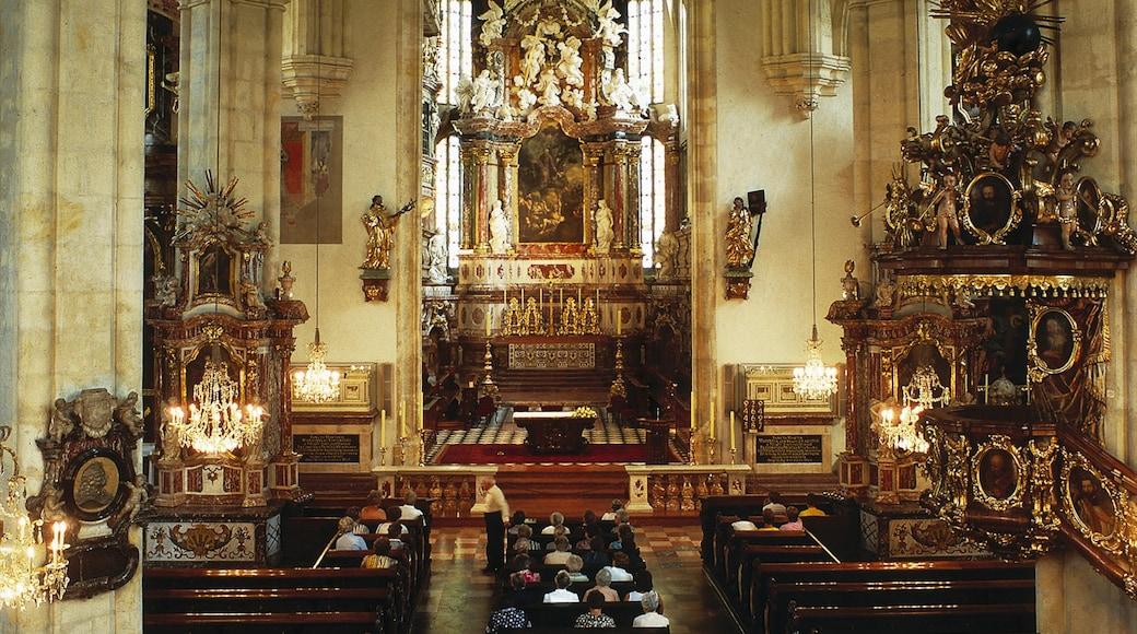 Grazer Dom welches beinhaltet religiöse Elemente, Kirche oder Kathedrale und Innenansichten