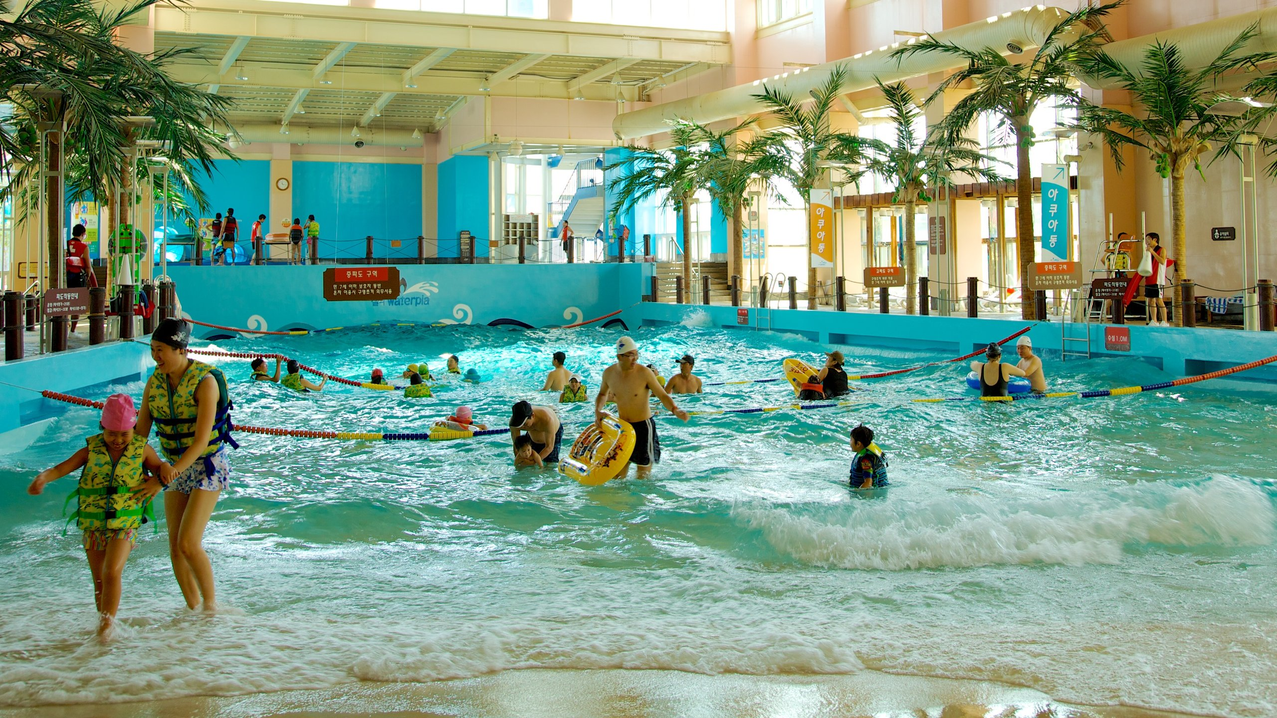 Make a splash in the hot-spring swimming pools and hot tubs, enjoy the picturesque mountain views and ride into The Maelstrom.