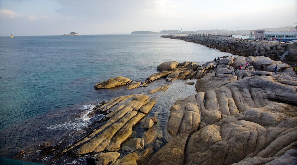 Sokcho showing rugged coastline, views and landscape views