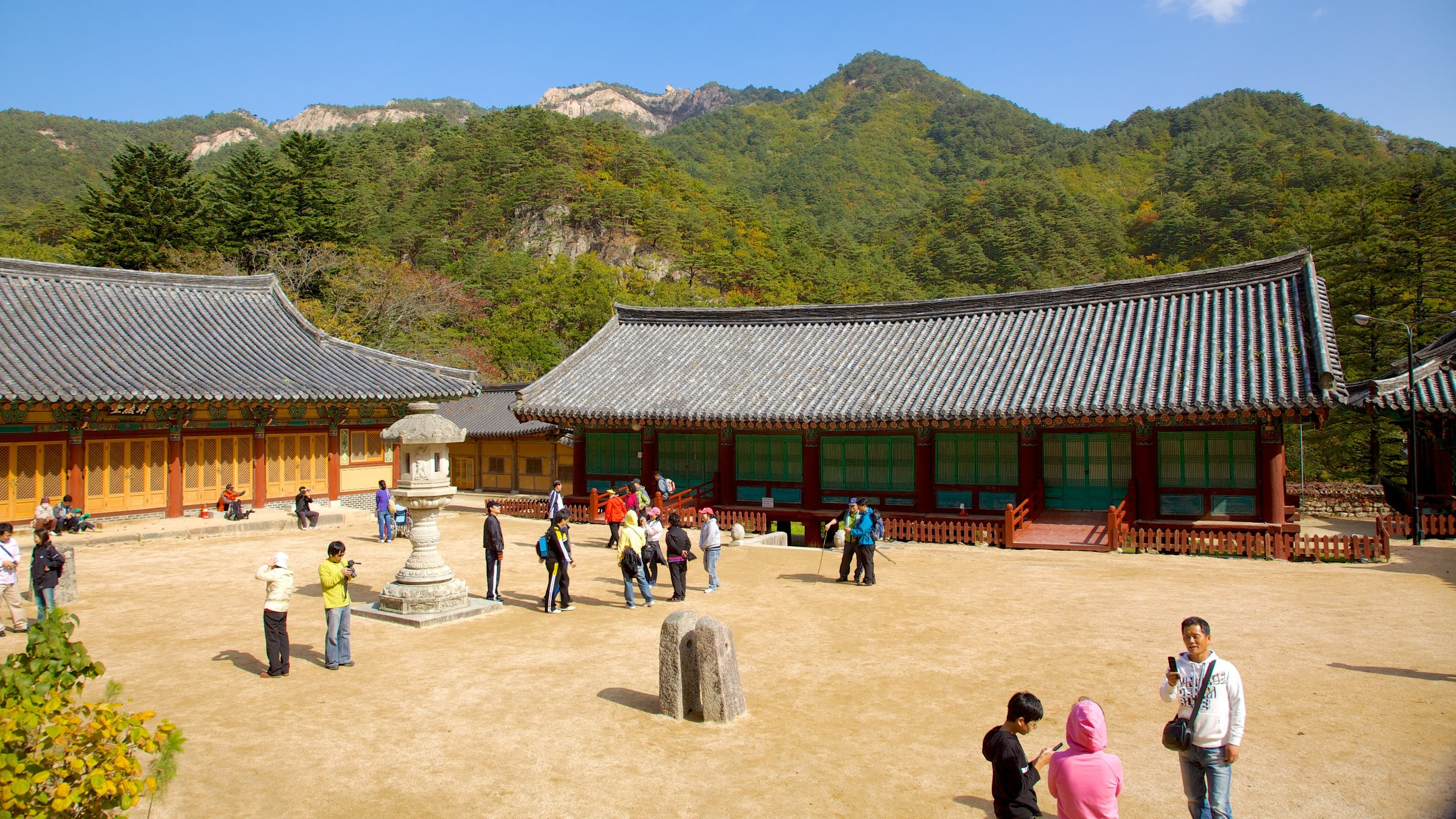 Amid the majestic mountains of Seoraksan National Park sits an ancient Zen Buddhist temple and a monument to a peaceful unification for Korea.