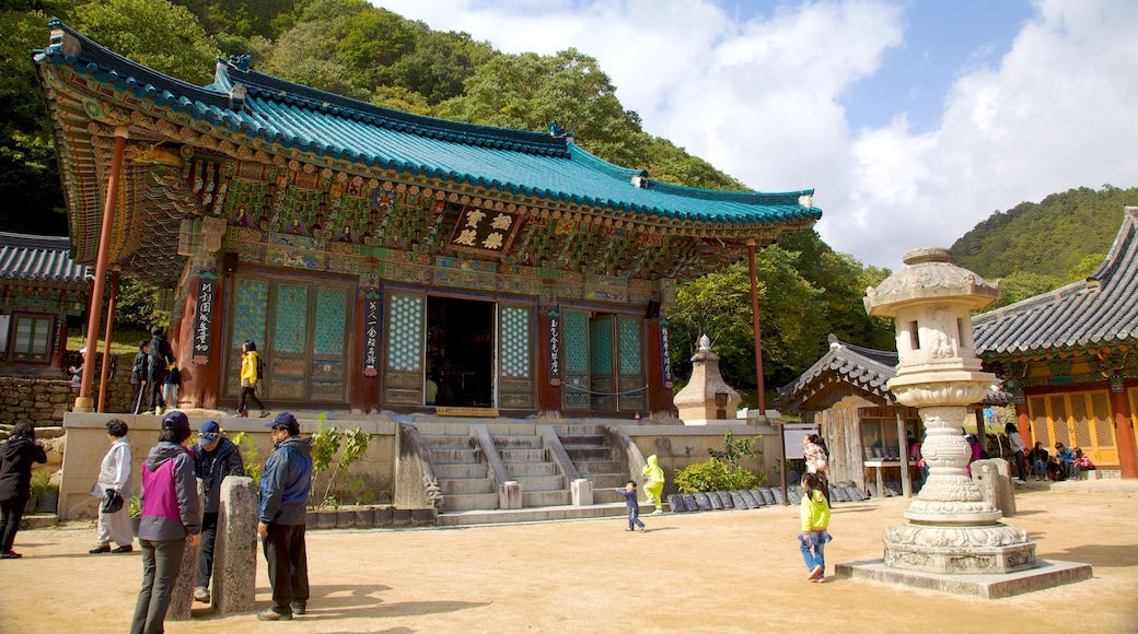 Sinheungsa Temple showing a temple or place of worship, heritage architecture and religious elements