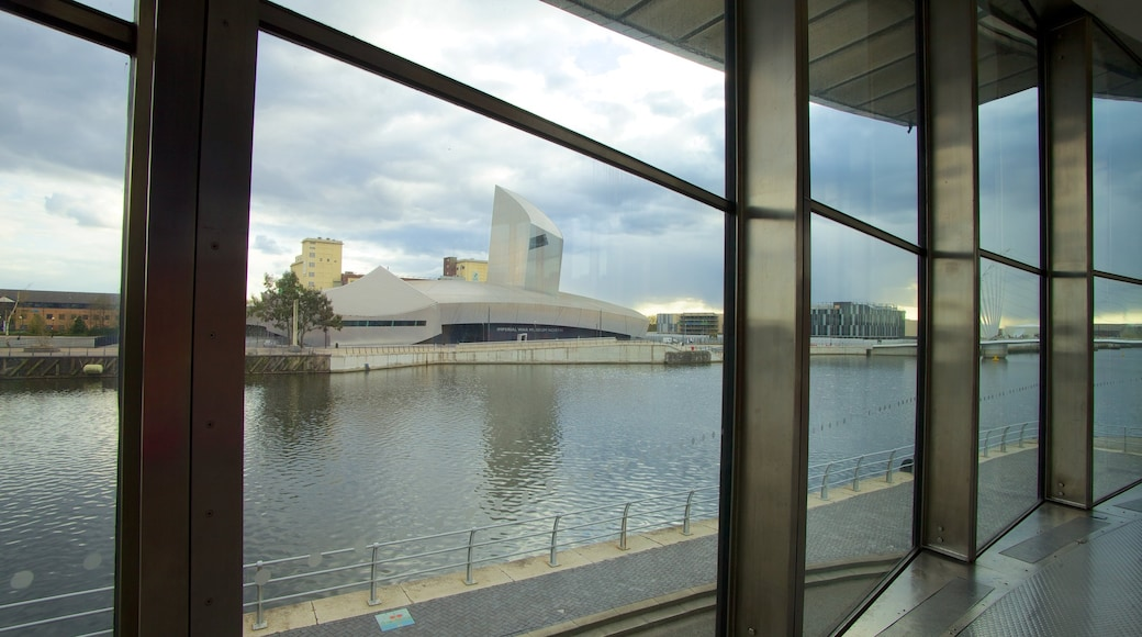 The Lowry Art and Entertainment featuring art, a river or creek and interior views