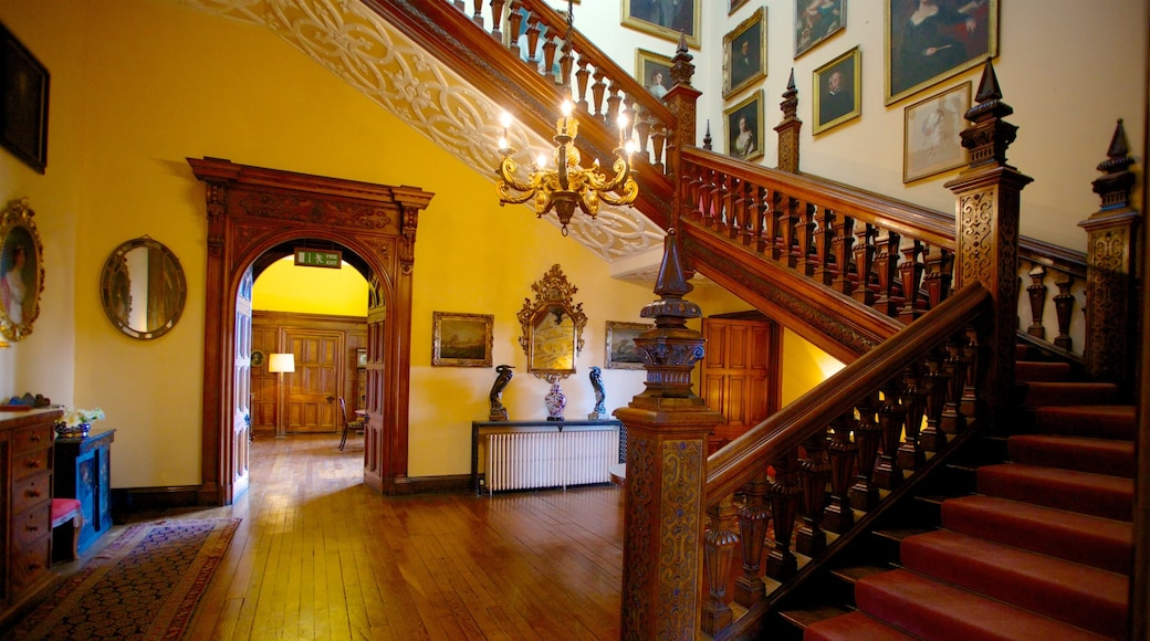 Arley Hall which includes heritage architecture and interior views