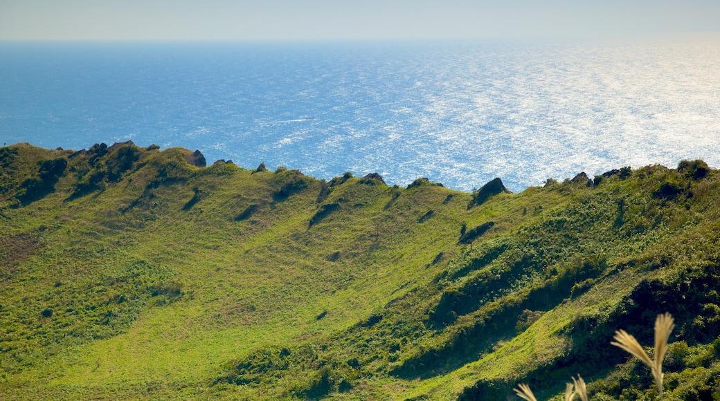 城山日出峰 其中包括 綜覽海岸風景, 山水美景 和 山