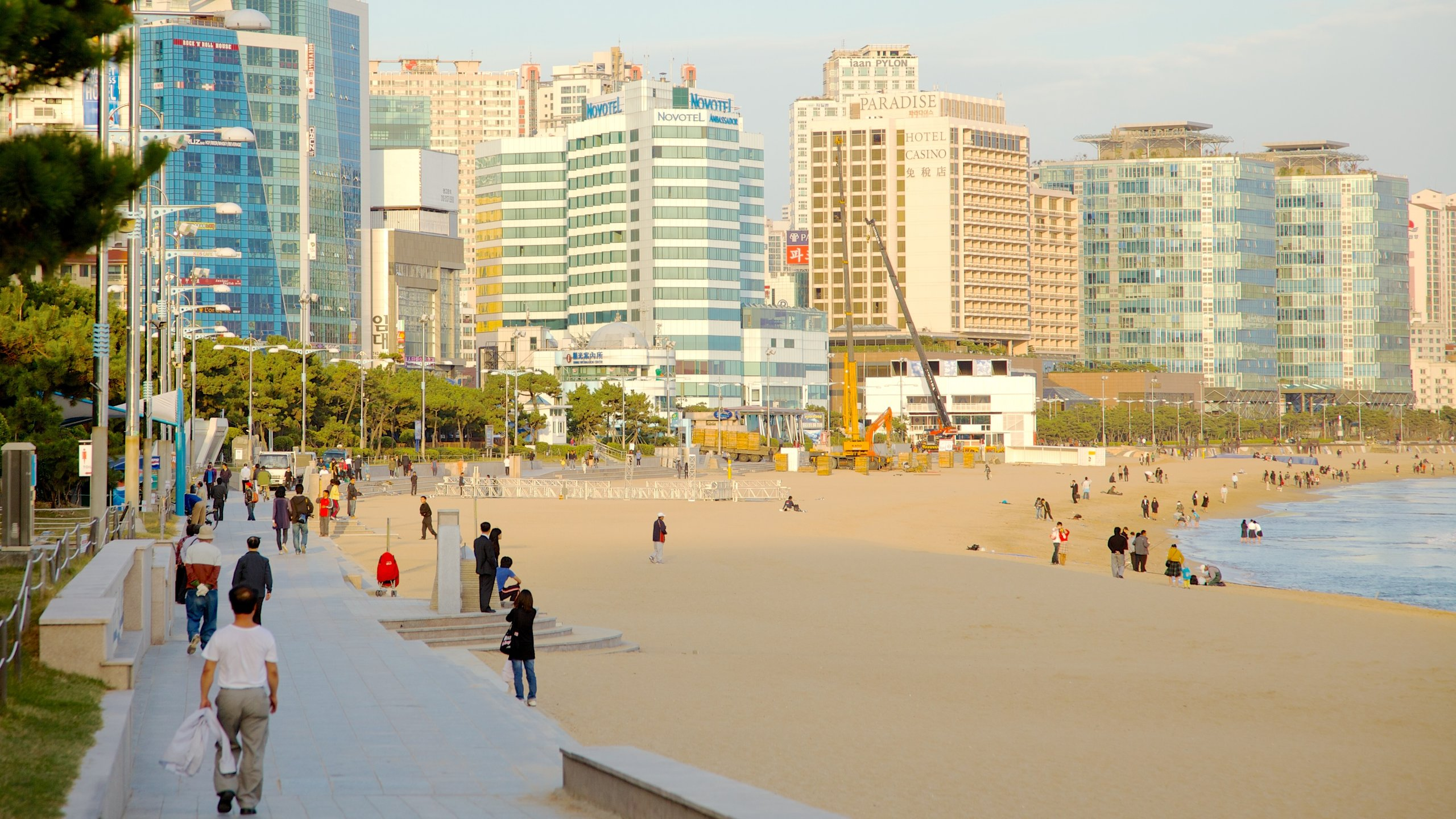 Let your cares float away while you bob on a tube just off Korea's most famous beach, where locals and tourists come to see and be seen.