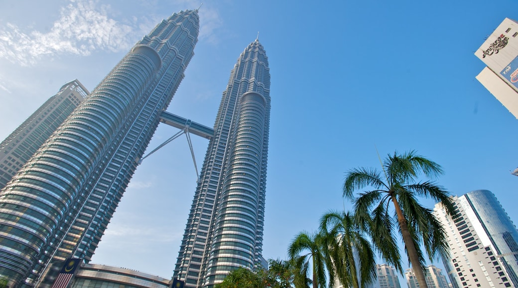 Petronas Twin Towers showing a city, skyline and cbd