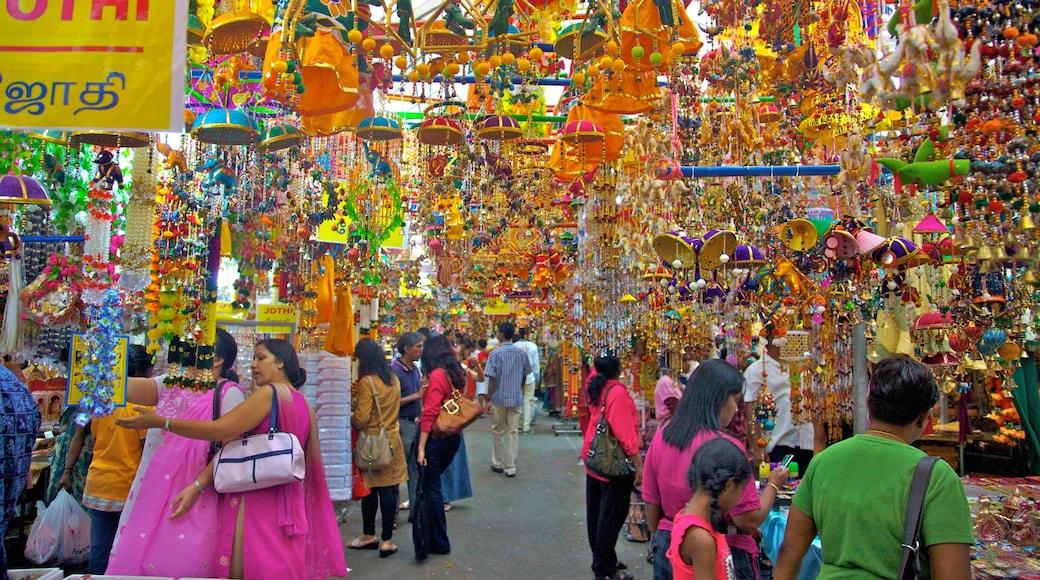 Little India trong đó bao gồm cảnh đường phố, chợ và thành phố