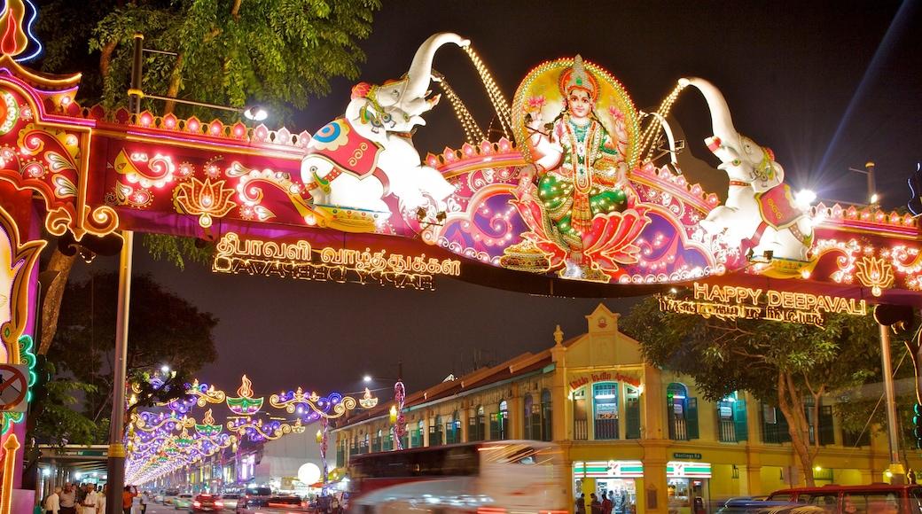 Little India có tính năng cảnh đường phố, thành phố và cảnh đêm