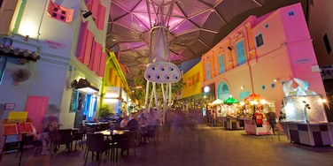 Clarke Quay featuring interior views, shopping and modern architecture