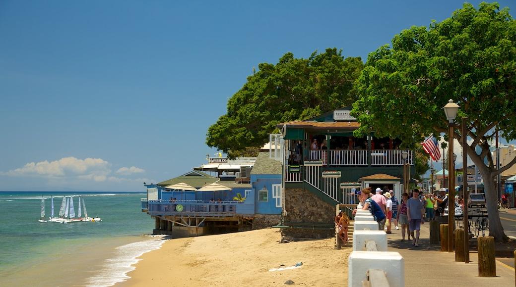 Lahaina featuring sailing, a beach and skyline