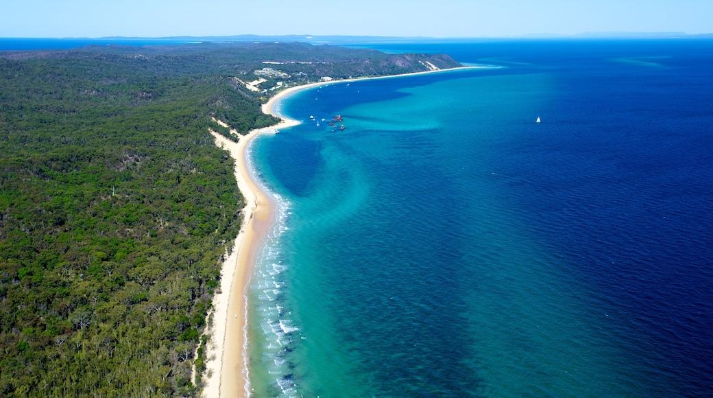 Moreton Island National Park featuring a beach, landscape views and general coastal views