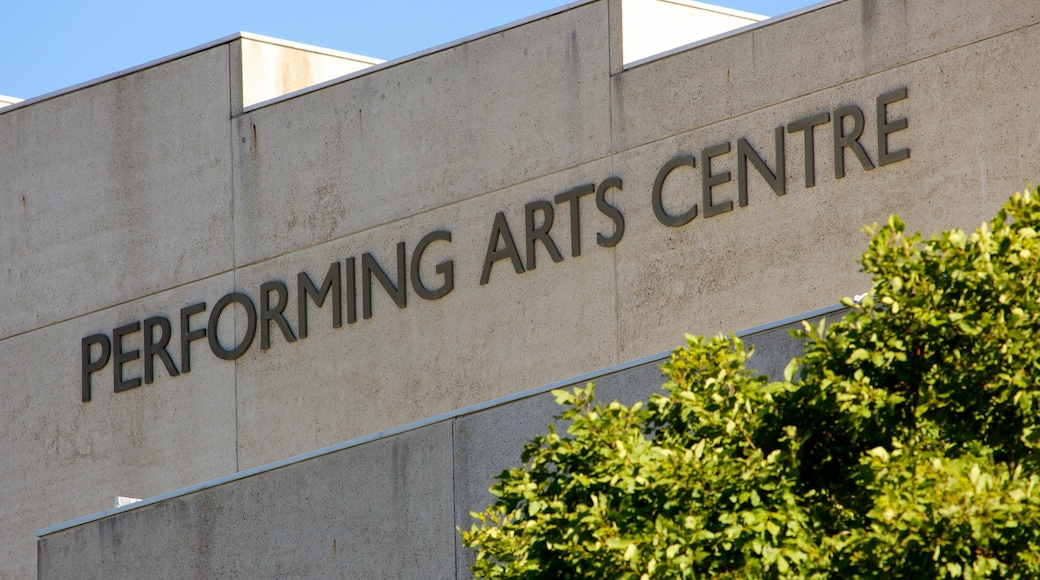 Queensland Performing Arts Centre which includes signage