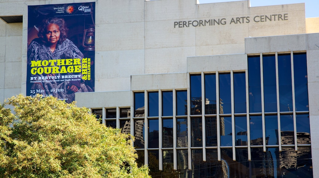 Queensland Performing Arts Centre which includes signage and theatre scenes
