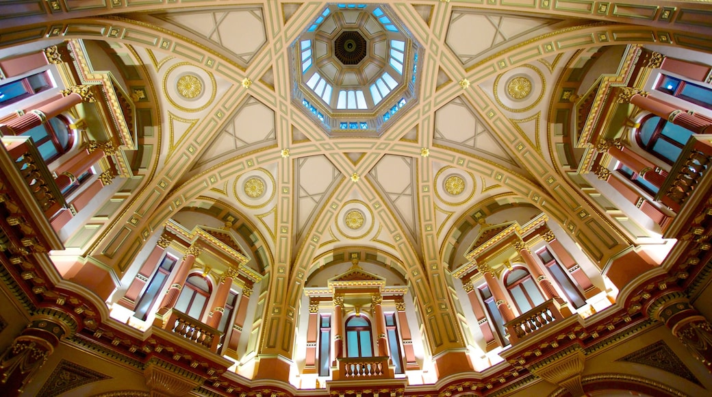 Collins Street featuring heritage architecture and interior views