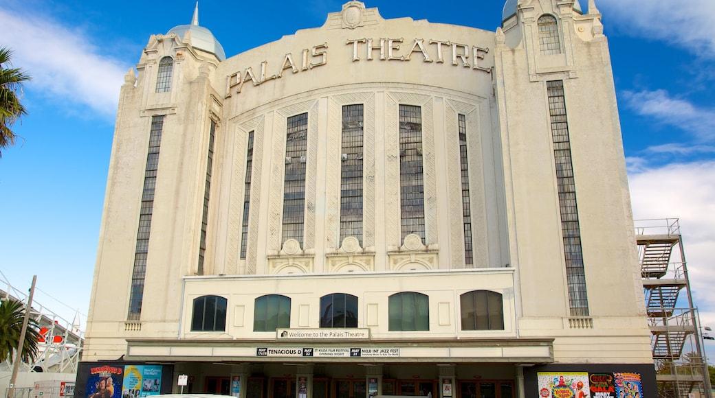 St. Kilda Beach which includes theatre scenes