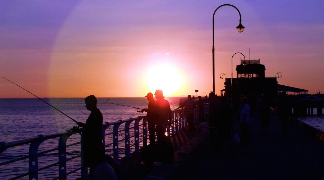 St. Kilda Beach featuring fishing, general coastal views and a coastal town