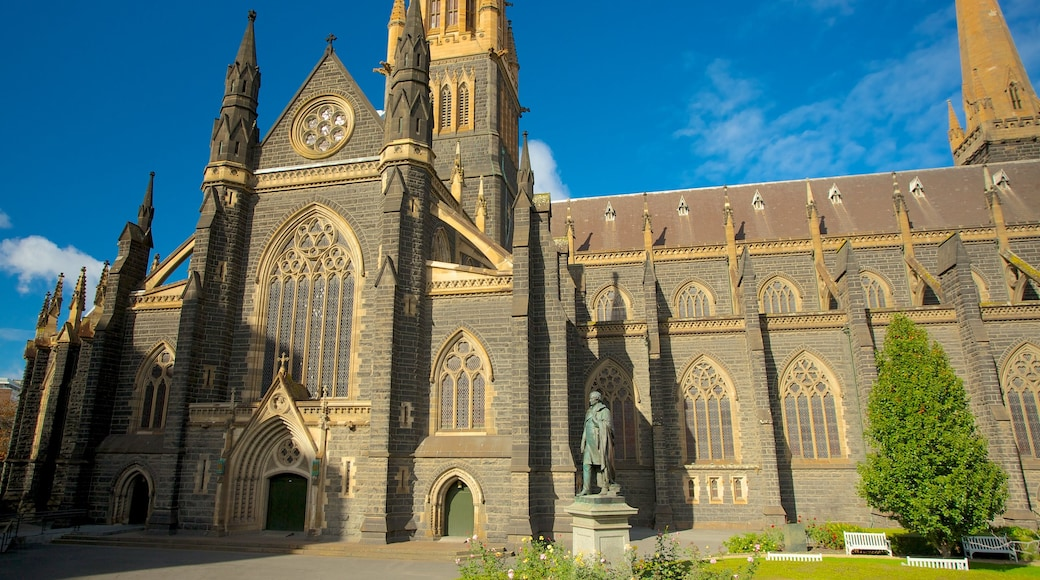St Patrick\'s Cathedral showing heritage architecture, a city and a church or cathedral