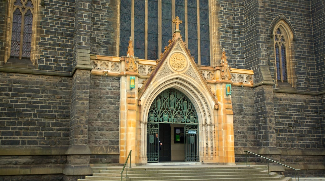St Patrick\'s Cathedral which includes a church or cathedral and religious elements