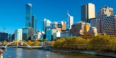 Melbourne which includes a city, central business district and a bridge