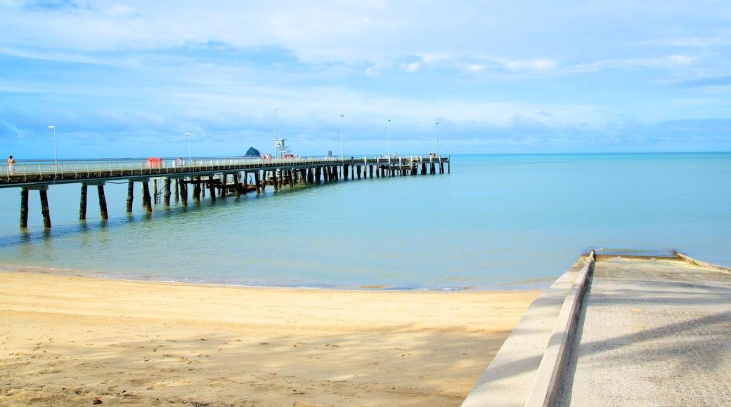 Palm Cove Beach featuring skyline, a sandy beach and landscape views