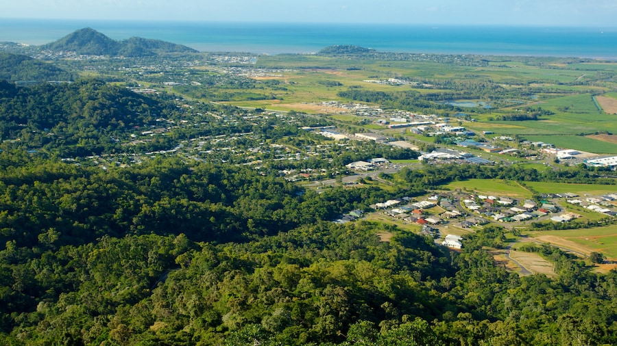 Skyrail Rainforest Cableway which includes landscape views and rainforest