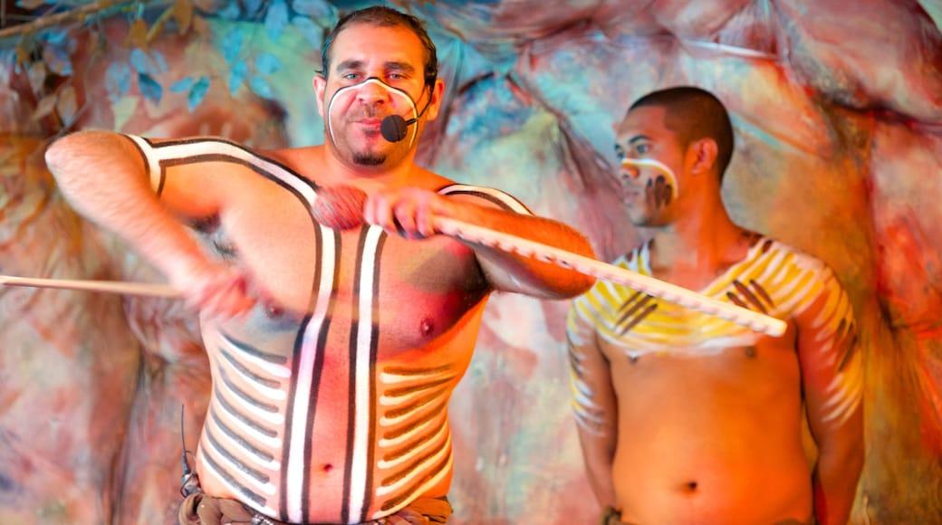 Tjapukai Aboriginal Cultural Park which includes performance art and indigenous culture