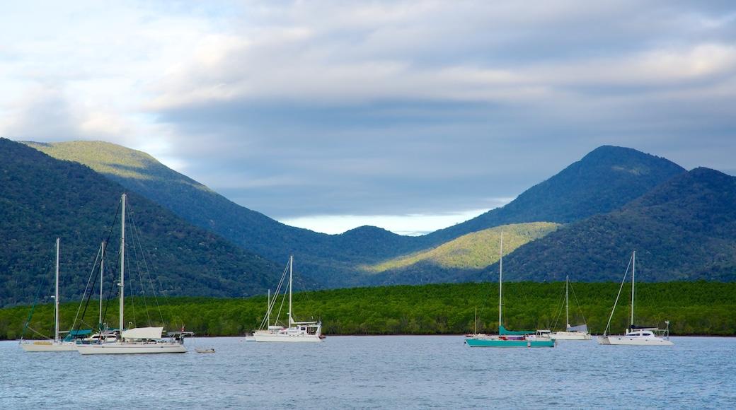 Cairns showing sailing, a marina and general coastal views