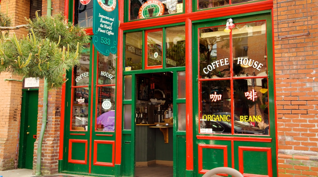 Victoria showing café scenes, city views and signage