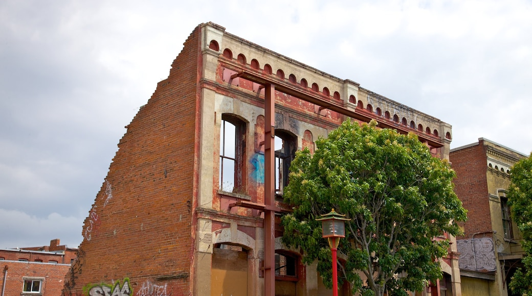 Lower Johnson Street featuring building ruins