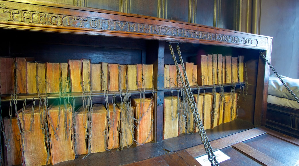 Chetham\'s Library which includes heritage elements and interior views