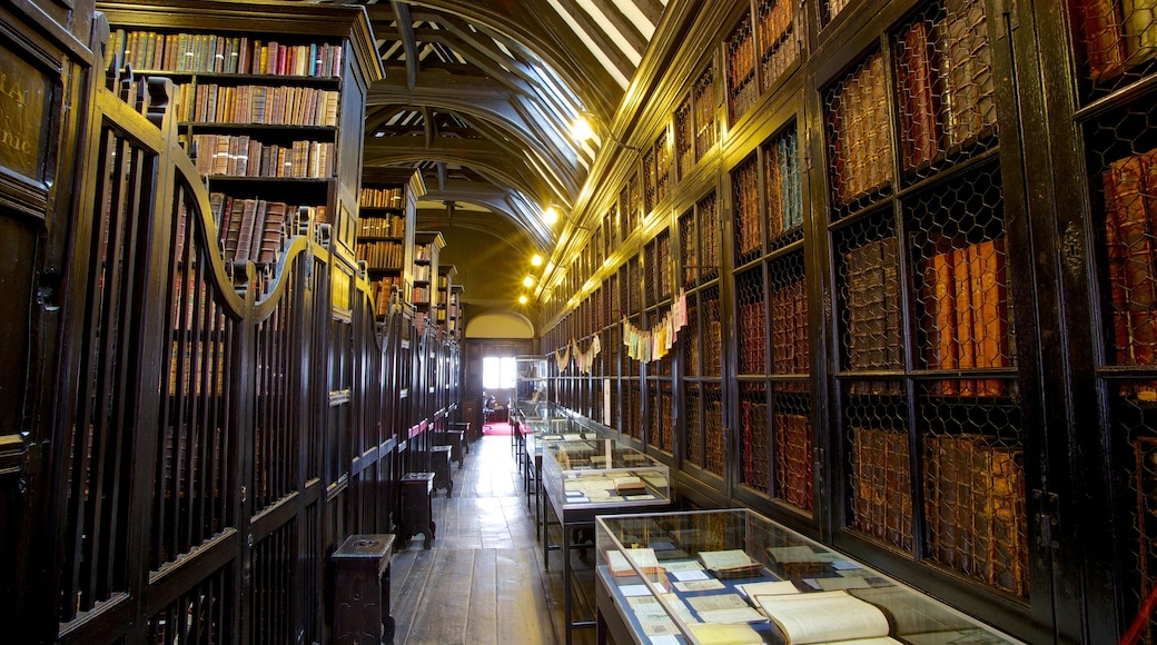 Chetham\'s Library which includes interior views