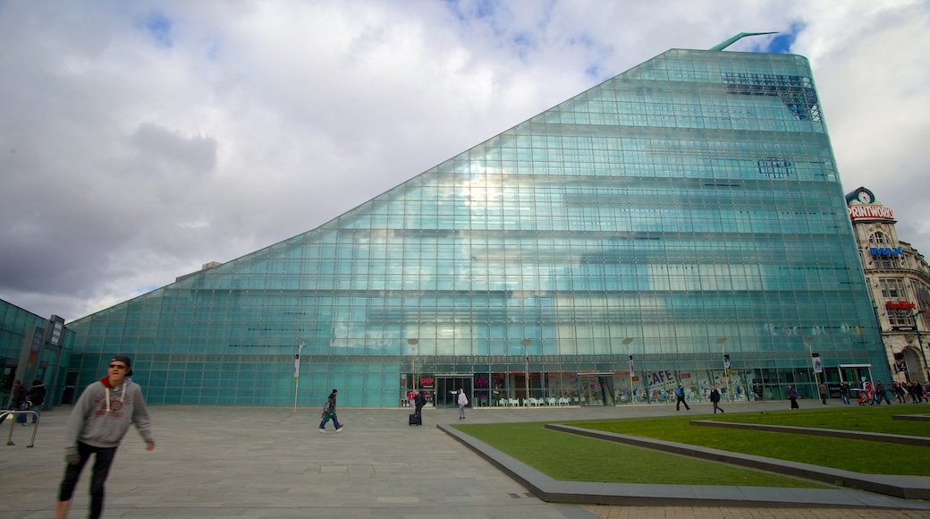 National Football Museum featuring modern architecture and a square or plaza