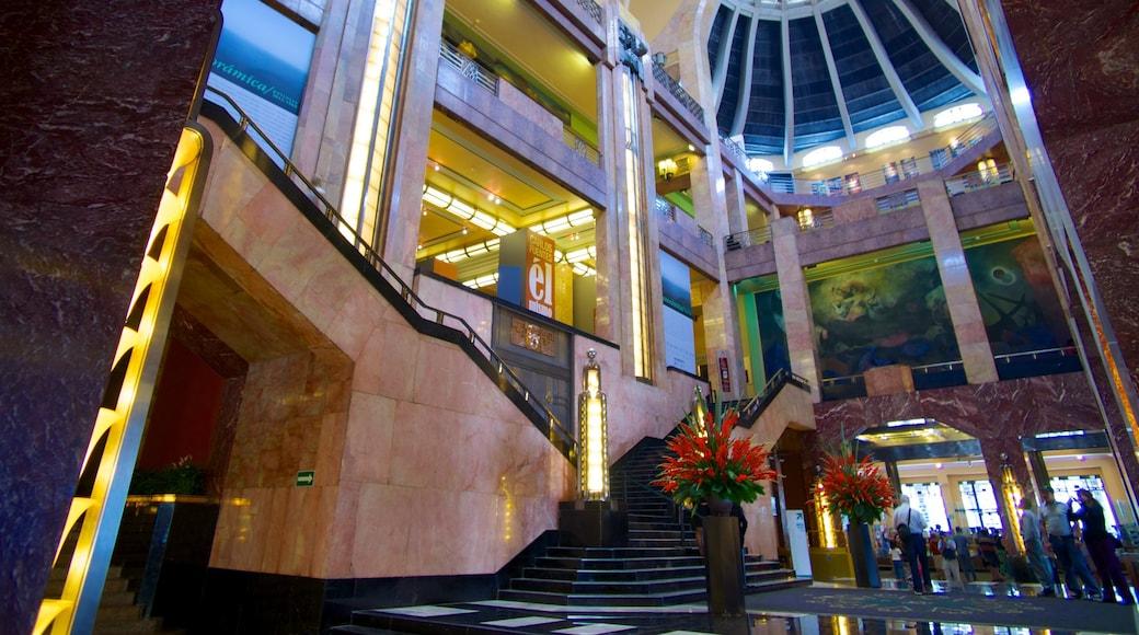 Palacio de Bellas Artes featuring interior views and chateau or palace
