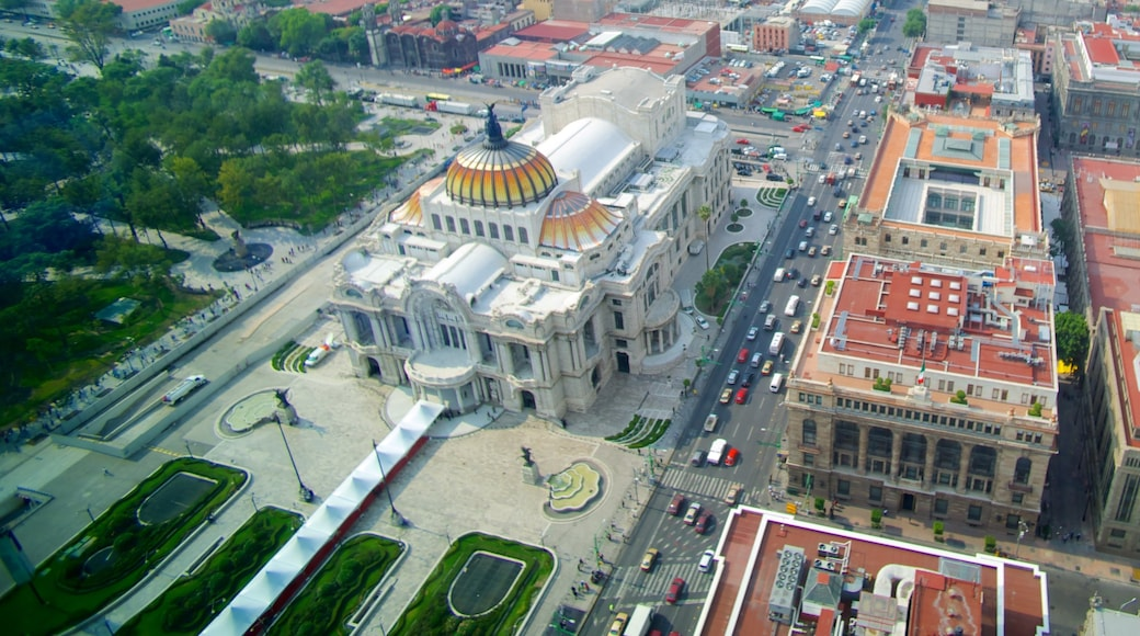 Palacio de Bellas Artes showing chateau or palace, street scenes and heritage architecture