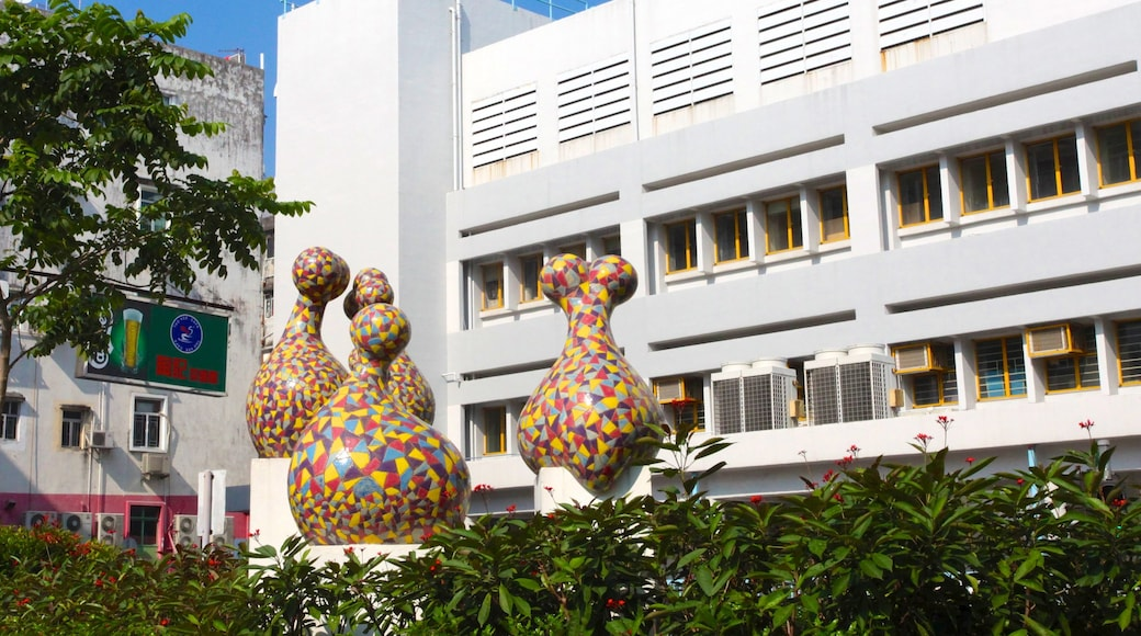Sai Kung which includes outdoor art and a city