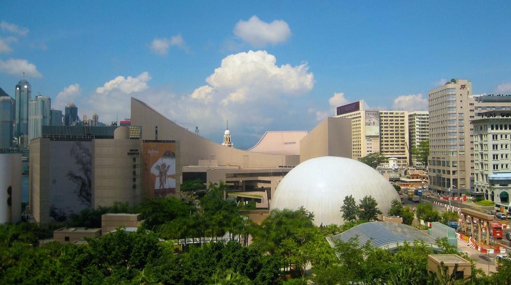 Tsim Sha Tsui showing skyline and a city