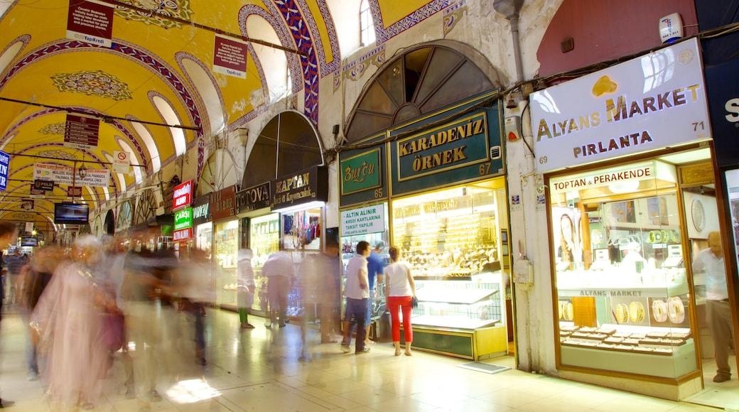 Gran Bazar que incluye vistas interiores, compras y señalización